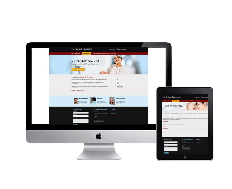website design for ivf specialist dr kaberi banerjee delhi