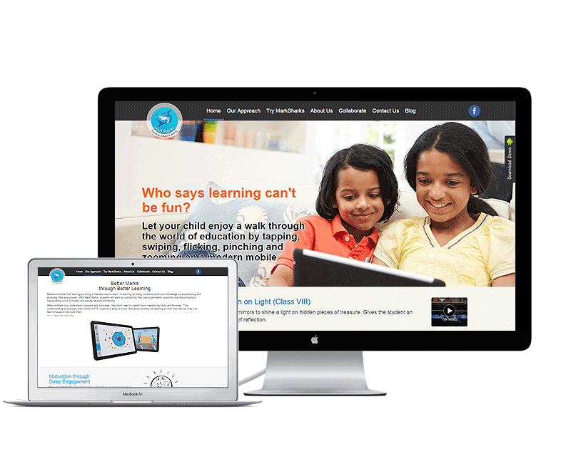 website design for education app company delhi