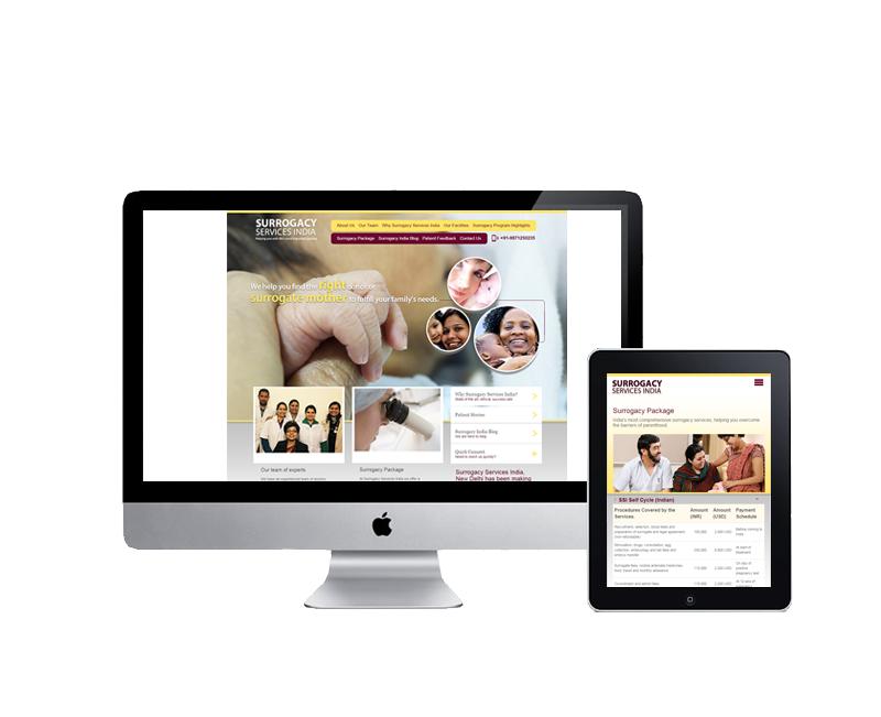 website design for surrogacy infertility clinic delhi
