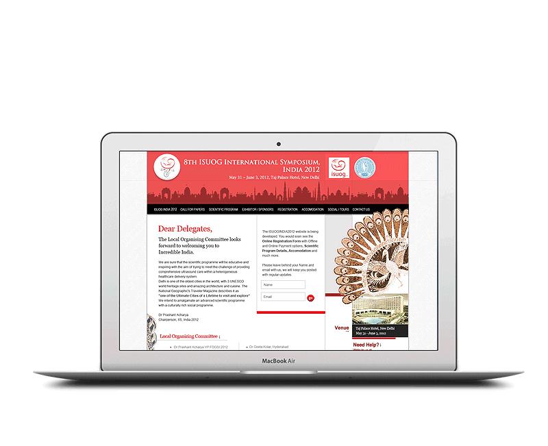 website design for isuog international symposium delhi